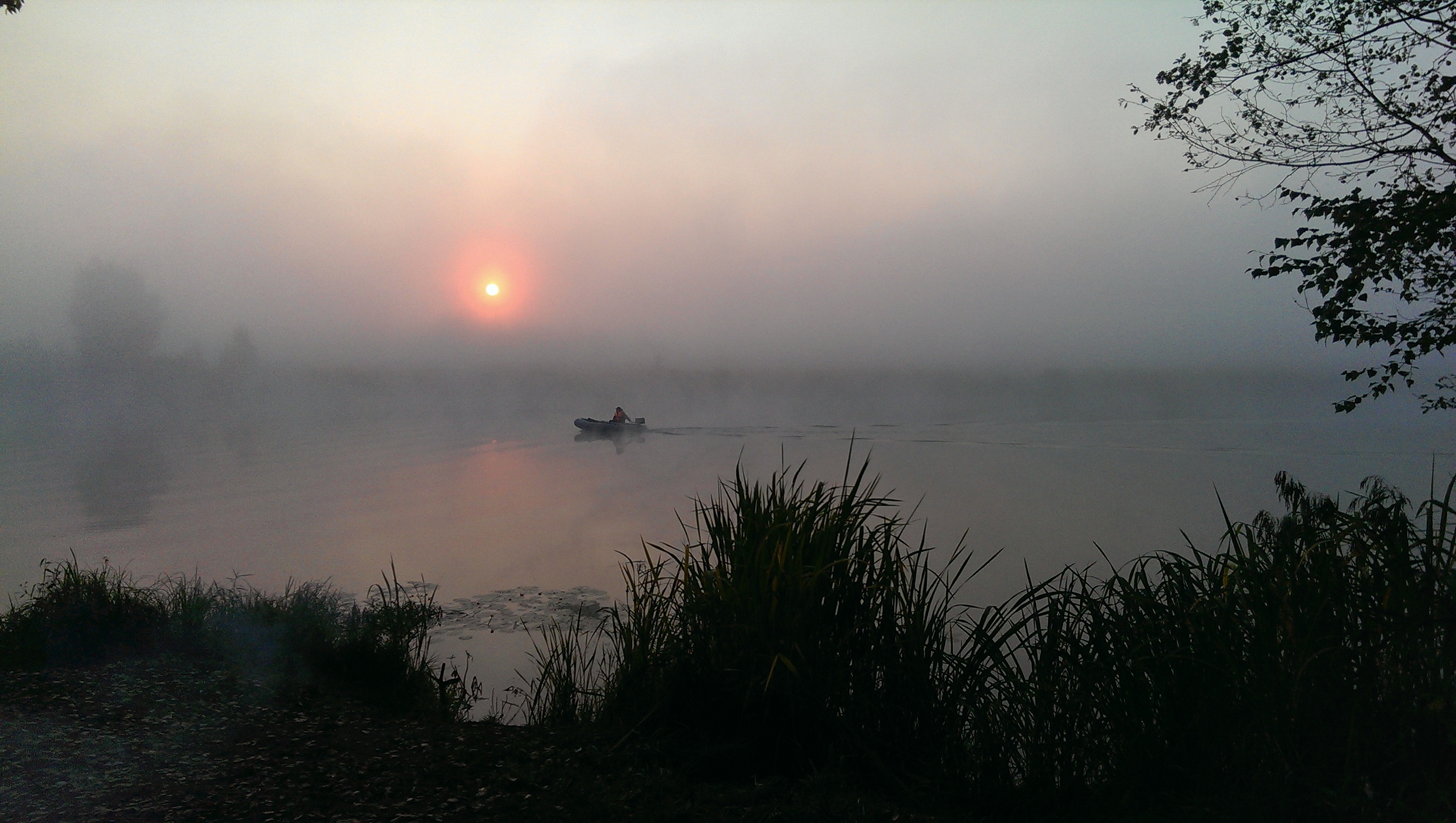 Река Кешка на зорьке
