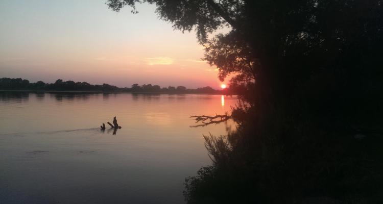 Река Ока в районе Дединово